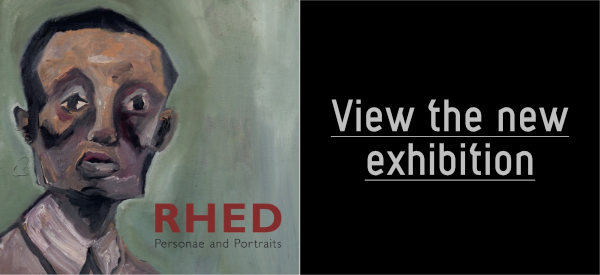 red cover view exhibition banner