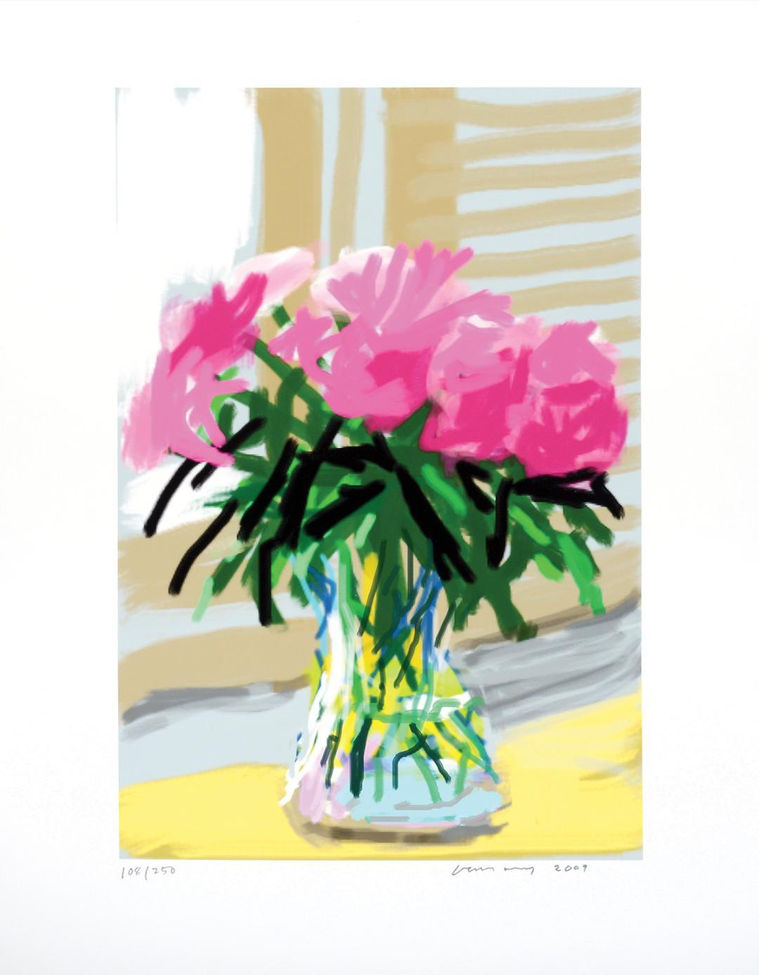 David Hockney Ipad Drawing For sale