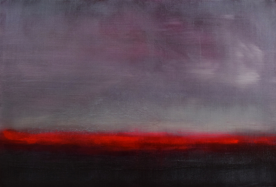Paul Hughes Red shimmer from somewhere between 2 worlds series 2019